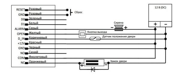 Схема підключення контролера Smartec ST-SC032EH